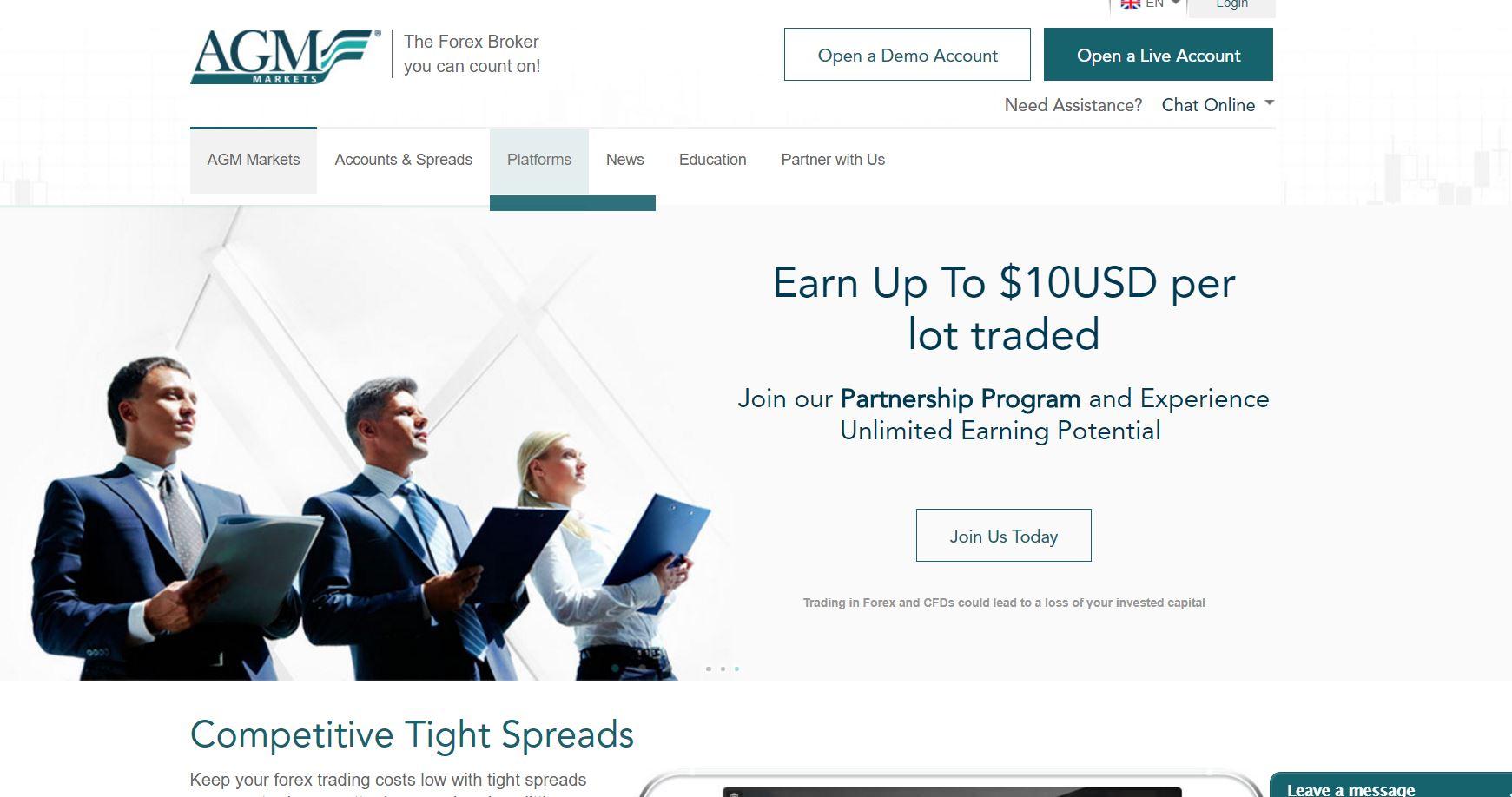 Обзор AGM Markets: типы счетов, бонусы, терминал, спред